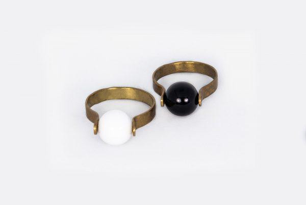 Anillo Ónix Cerámica - Diurna Metal Jewelry