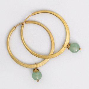 Aro y Aventurina - Diurna Metal Jewelry