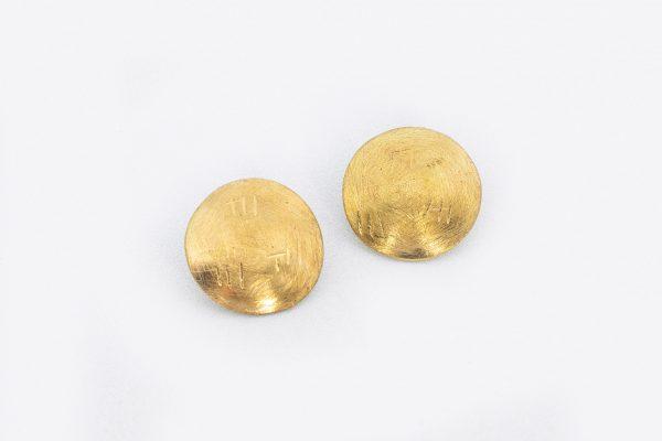 Pendiente Boite Círculo hecho por Diurna Metal Jewelry