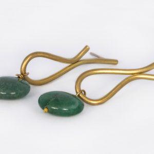Lágrima más Aventurina - Diurna Metal Jewelry