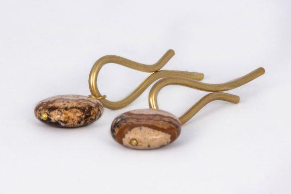 Lágrima más Jaspe Madera - Diurna Metal Jewelry
