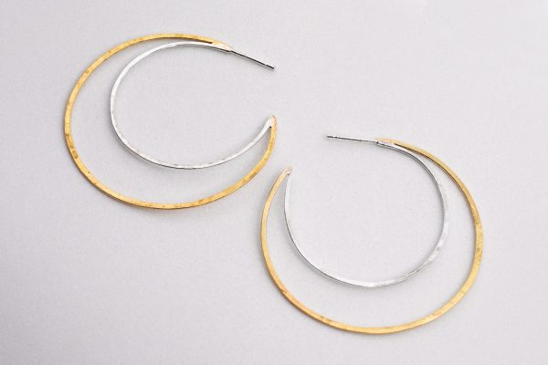 Luna, plata y latón - Diurna Metal Jewelry