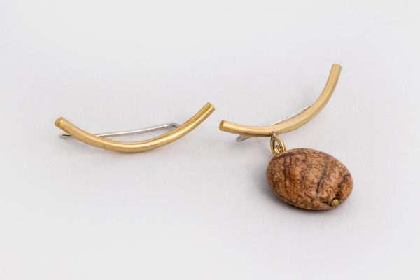 Trepador Asimétrico y Jaspe - Diurna Metal Jewelry